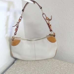 Dooney And Bourke White Orange Pebbled Leather Bag